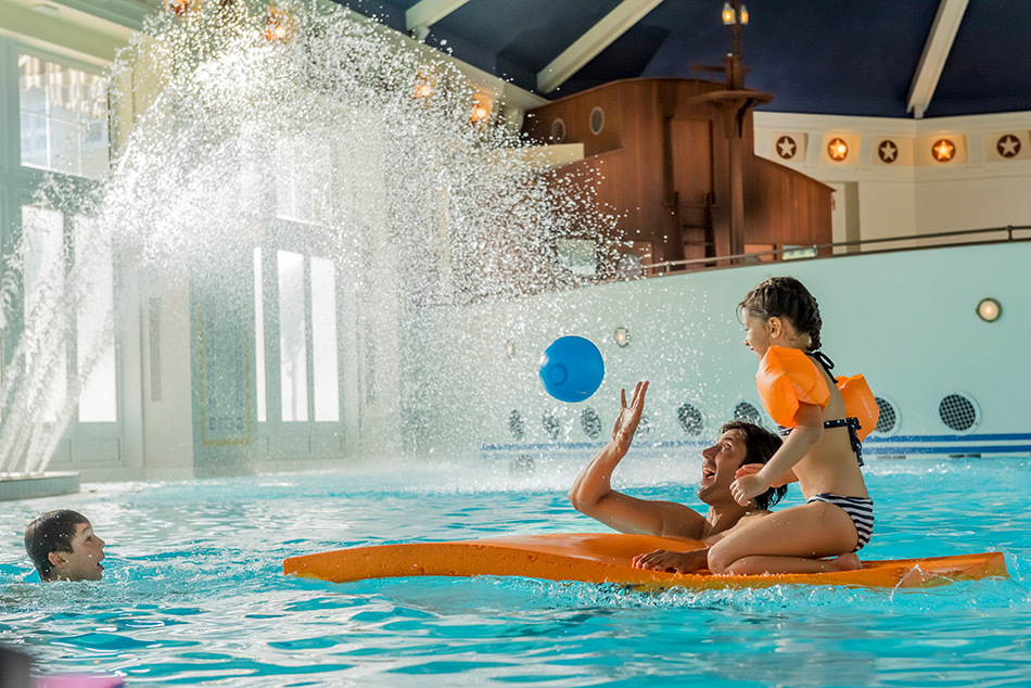 Disney's Newport Bay Club offers an indoor and outdoor pool