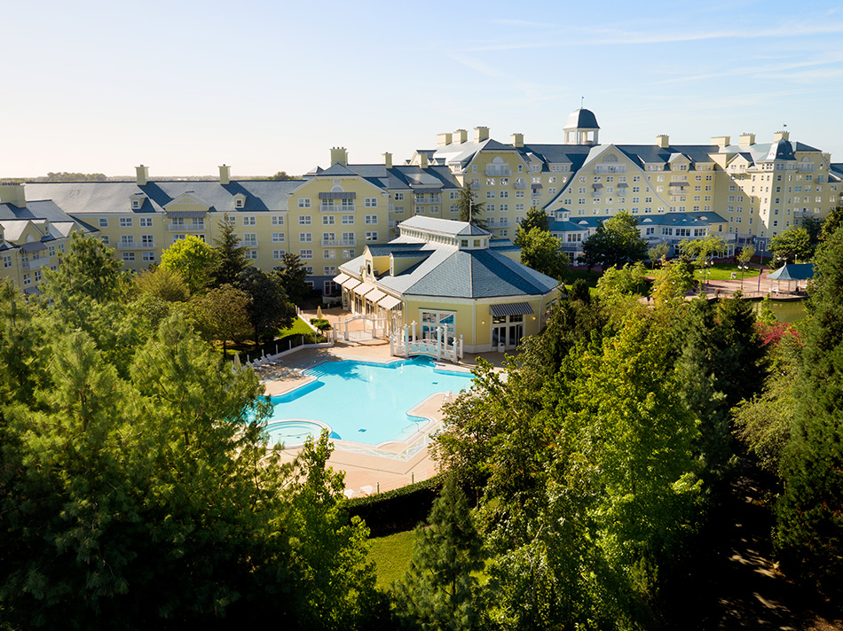Outdoor swimming pool at Disney's Newport Bay Club Hotel
