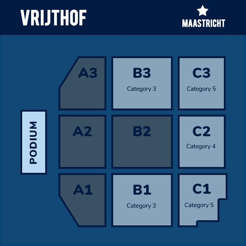Seating plan for Andre Rieu LIVE in Maastricht
