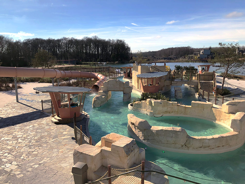 Enjoy the incredible Aqualagon, with incredible water slides and heated all year round to 30 degrees!