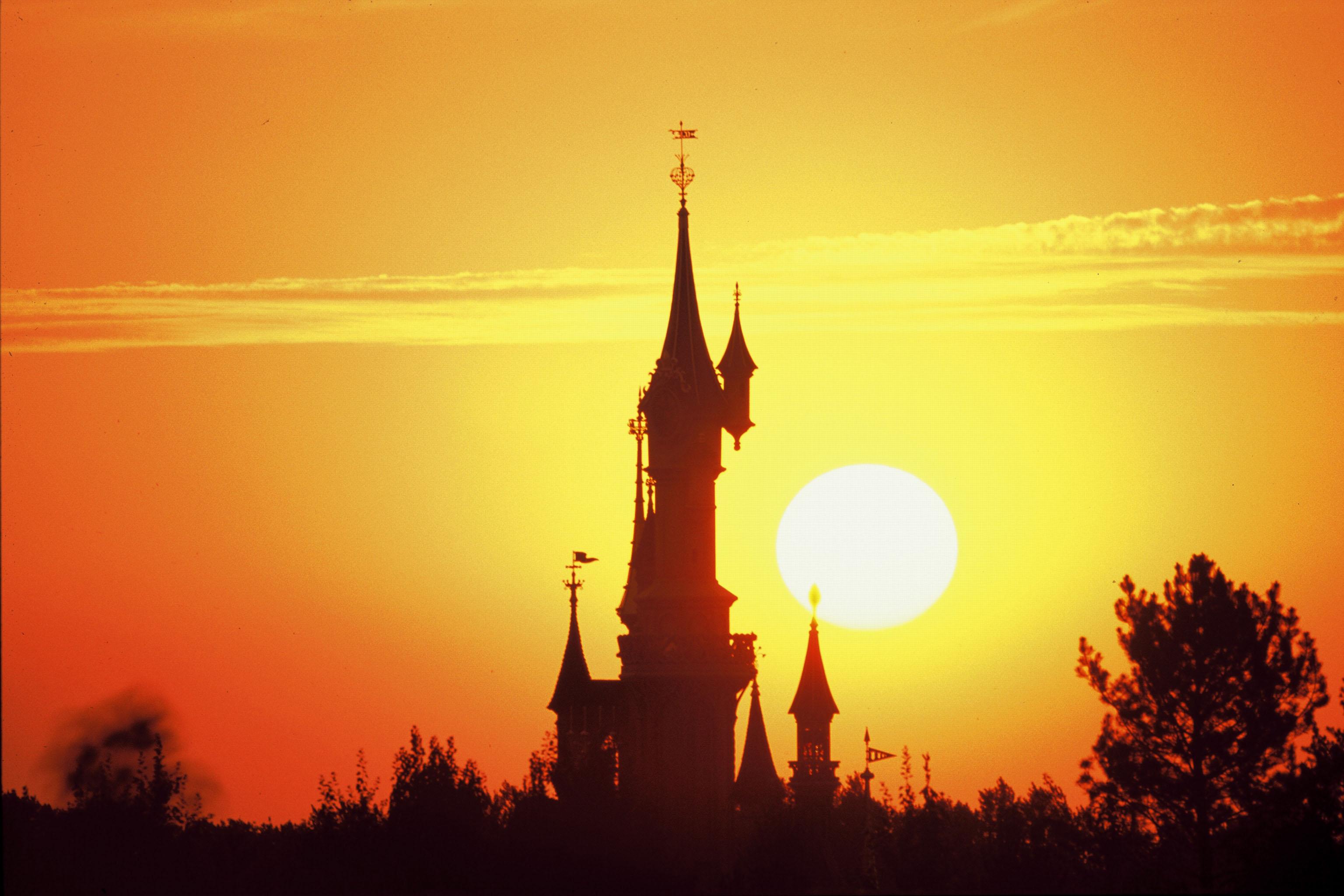 Sleeping Beauty Castle at Sunset